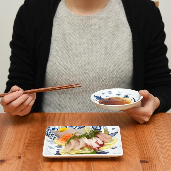 波佐見焼 北欧食器 和食器 おしゃれ natural69 cocomarine 小皿 手持ち